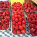 Vente de fraise sur marché